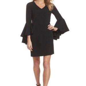 Eliza J Bell sleeve Black mini Dress